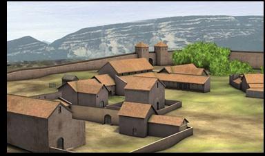 Photo : site archéologique Oratoire chrétien vers 350 ap. J.C.