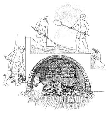 Photo : Site archéologique III - IVe siècle : le Traitement du blé