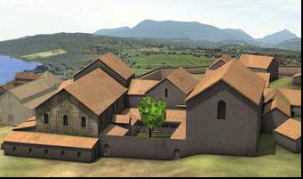 Photo: site archéologique VIe siècle agrandissement de la cathédrale nord